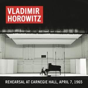 Vladimir Horowitz Rehearsal at Carnegie Hall, April 7, 1965