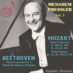 Wolfgang Amadeus Mozart; Ludwig van Beethoven: Menahem Pressler, Vol. 3