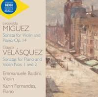 Glauco Velásquez and Leopoldo Miguez: Sonatas for Violin and Piano