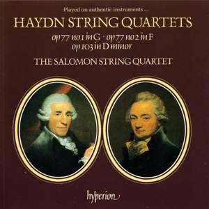 Haydn: Haydn's Last String Quartets