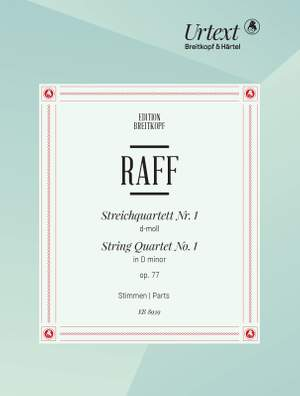 Raff, Joachim: String Quartet No. 1 in D minor op. 77 Product Image