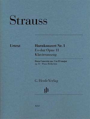 Richard Strauss: Horn Concerto No. 1 in E flat major Op. 11 Product Image