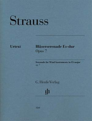 Richard Strauss: Serenade for Wind Instruments Op. 7 Product Image