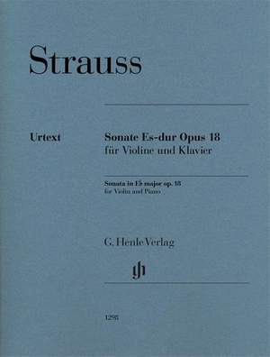 Richard Strauss: Sonata in E Flat Major Op. 18 Product Image