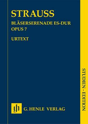 Richard Strauss: Serenade for Wind Instruments E flat major op. 7 Product Image