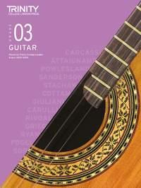 Trinity College London Classical Guitar Grade 3 2020-2023