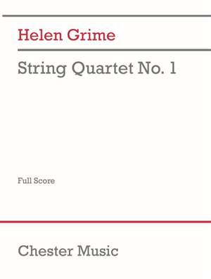 Helen Grime: String Quartet No.1 Score