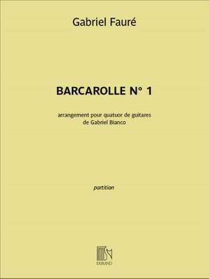 Gabriel Fauré: Barcarolle n°1