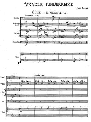 Janacek, Leos: Říkadla (Nursery Rhymes) for chamber choir and 10 instruments