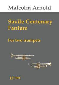 Malcolm Arnold: Savile Centenary Fanfare For Two Trumpets