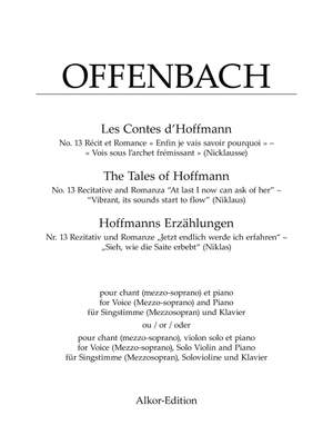 """Offenbach: Rezitativ und Romanze """"Enfin je vais savoir pourquoi"""" – """"Vois sous l'archet frémissant"""" (Nicklausse)"""