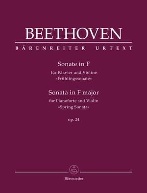 "Beethoven, Ludwig van: Sonata for Pianoforte and Violin in F major op. 24 ""Spring Sonata"" Product Image"