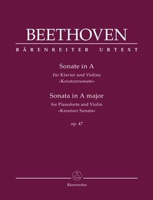 "Beethoven, Ludwig van: Sonata for Pianoforte and Violin in A major op. 47 ""Kreutzer Sonata"" Product Image"