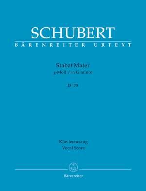 Schubert, Franz: Stabat Mater in G minor D 175
