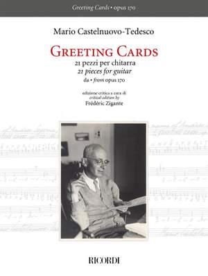 Mario Castelnuovo-Tedesco: Greeting Cards - 21 pezzi per chitarra Product Image