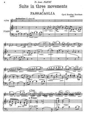 Rootham, Cyril Bradley: Suite in three movements for flute and piano