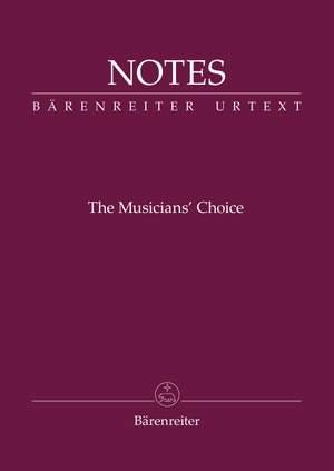 "Bärenreiter Notes ""The Musician's Choice"""