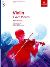 ABRSM: Violin Exam Pieces 2020-2023, ABRSM Grade 3, Part
