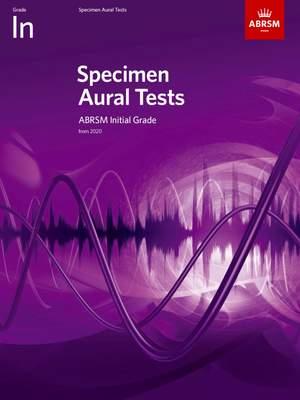 ABRSM: Specimen Aural Tests, Initial Grade Product Image