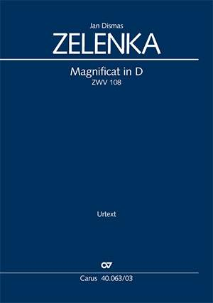 Zelenka: Magnificat in D (ZWV 108; DDur)