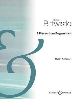 Birtwistle: Bogenstrich: Three Pieces for Cello & Piano Product Image