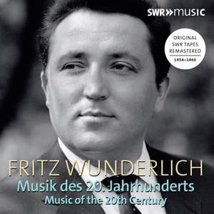 Fritz Wunderlich: Music of the 20th Century Product Image