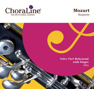 """Mozart: Requiem (""""ChoraLine With Singer"""" Series) Product Image"""