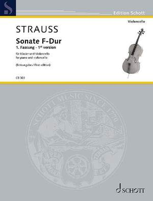 Strauss, R: Sonate  F-Dur (First edition of 1st version)