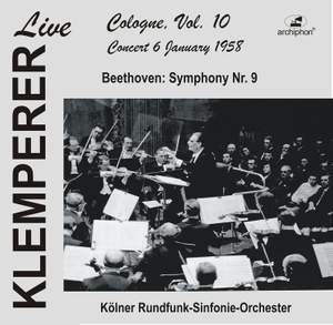 Klemperer live, Cologne Vol. 10: Beethoven, Symphony No. 9 (Historical Recording) Product Image