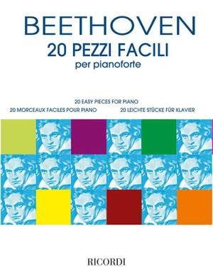Ludwig van Beethoven: 20 Pezzi facili per pianoforte