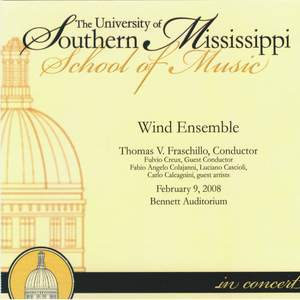 The University of Southern Mississippi Wind Ensemble in Concert 02-09-2008