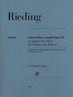 Rieding, O: Concertino in  a minor op. 21 Product Image