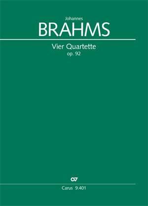 Brahms: Four Quartets op. 92