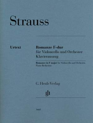 Richard Strauss: Romanze F-dur (Romance in F major) for Violoncello and Orchestra Product Image