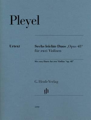 Pleyel, I J: Six easy Duets op. 48 op. 48 Product Image
