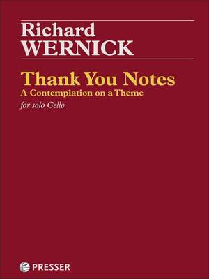 Wernick, R: Thank You Notes Product Image