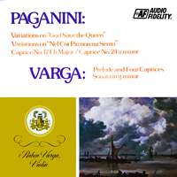 Paganini: Variations On 'God Save The Queen', Variations On 'Nel Cor Piu Non Mi Sento', Caprices 17 And 24, Varga: Prelude And Four Caprices, Sonata In G Minor