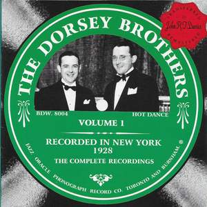 The Dorsey Brothers Vol. 1 - 1928 Product Image