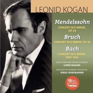 Mendelssohn, Bruch & Bach : Violin Concertos