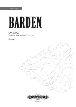 Barden, Mark: personae (2 performing scores)