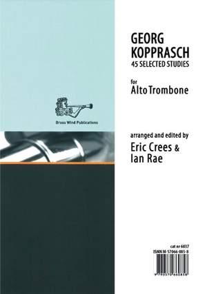 Kopprasch: 45 Selected Studies for Alto Trombone