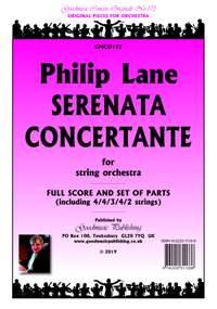 Philip Lane: Serenata Concertante for string orchestra