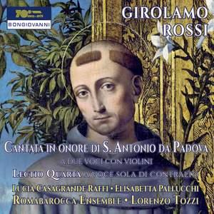 Rossi: Cantata in onore di S. Antonio da Padova & Lectio quarta Product Image
