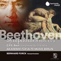 Beethoven: Symphonies Nos. 1 & 2 / CPE Bach: Symphonies Wq 175 & 183/4