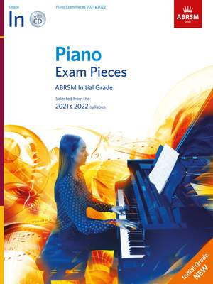 ABRSM: Piano Exam Pieces 2021 & 2022, Initial Grade with CD