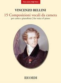 Bellini: 15 Composizioni vocali da camera (High Voice)