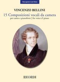 Vincenzo Bellini: 15 Composizioni vocali da camera