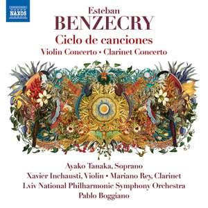 Benzecry: Ciclo de canciones, Violin Concerto & Clarinet Concerto Product Image