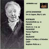 ARTHUR RUBINSTEIN Live in Lugano May 8, 1961SHUMANN, CHOPIN, PROKOFIEV, GRANADOS and LISZT