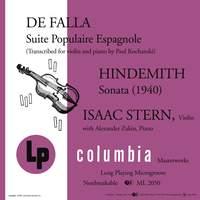 De Falla: Suite populaire espagnole - Hindemith: Sonata (1940)